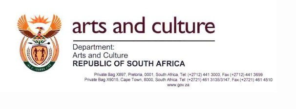 dept of arts and culture council bursaries in south africa