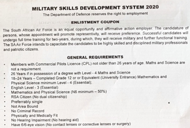 South African Air Force Learnership